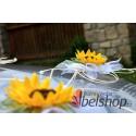 Slunečnicová dekorace na auto - komplet