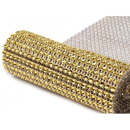 Borta šíře 115 mm kolečka, 1m, zlatá