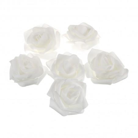 Pěnové růže bal. 4 ks bílé