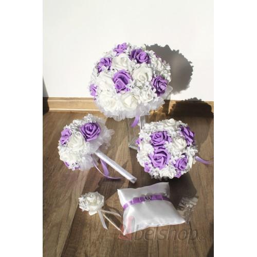 Set svatebních kytic Lila