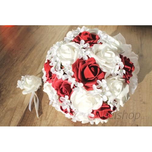Svatební bordó kytice