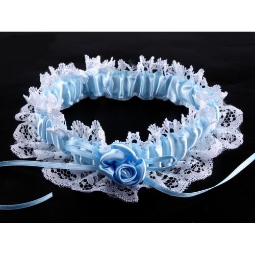 Svatební podvazek - modrý