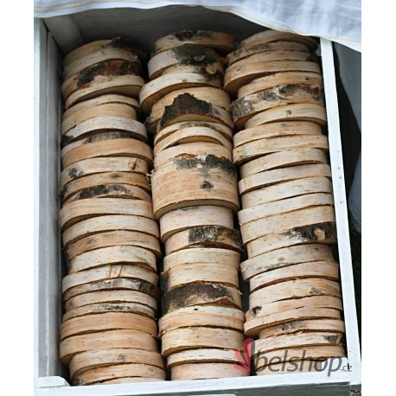 Dřevěná kolečka z břízy 8-12cm