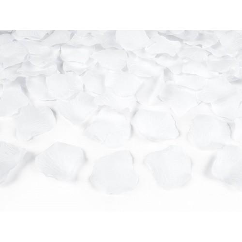 Bílé plátky růží (100 ks)