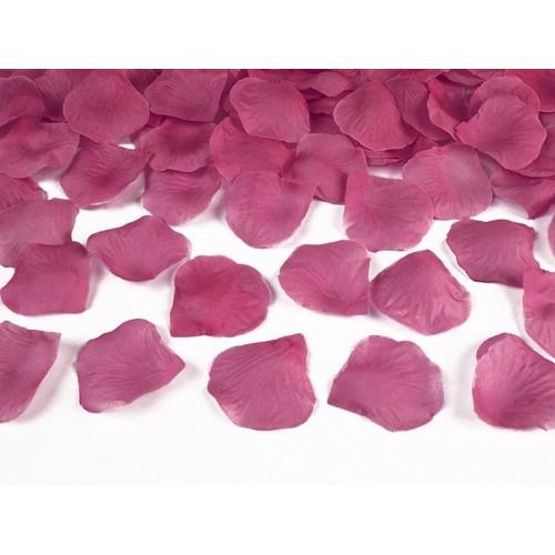 Růžové - fuchsiové plátky růží (100 ks)