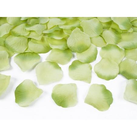 Zelené plátky růží (100 ks)