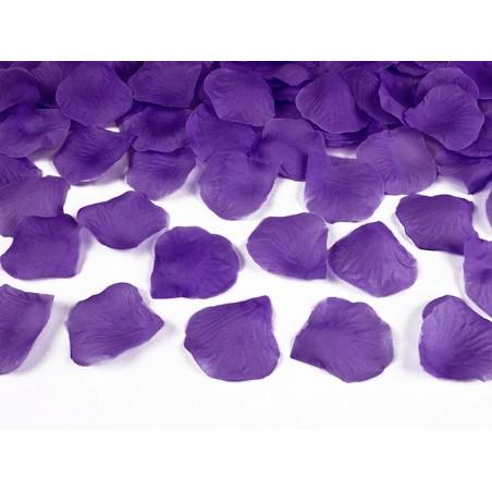 Fialové plátky růží (100 ks)