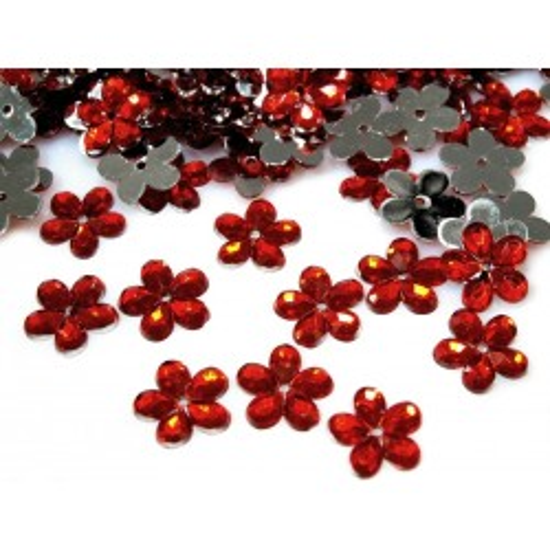 Plastové květiny 10 g červená