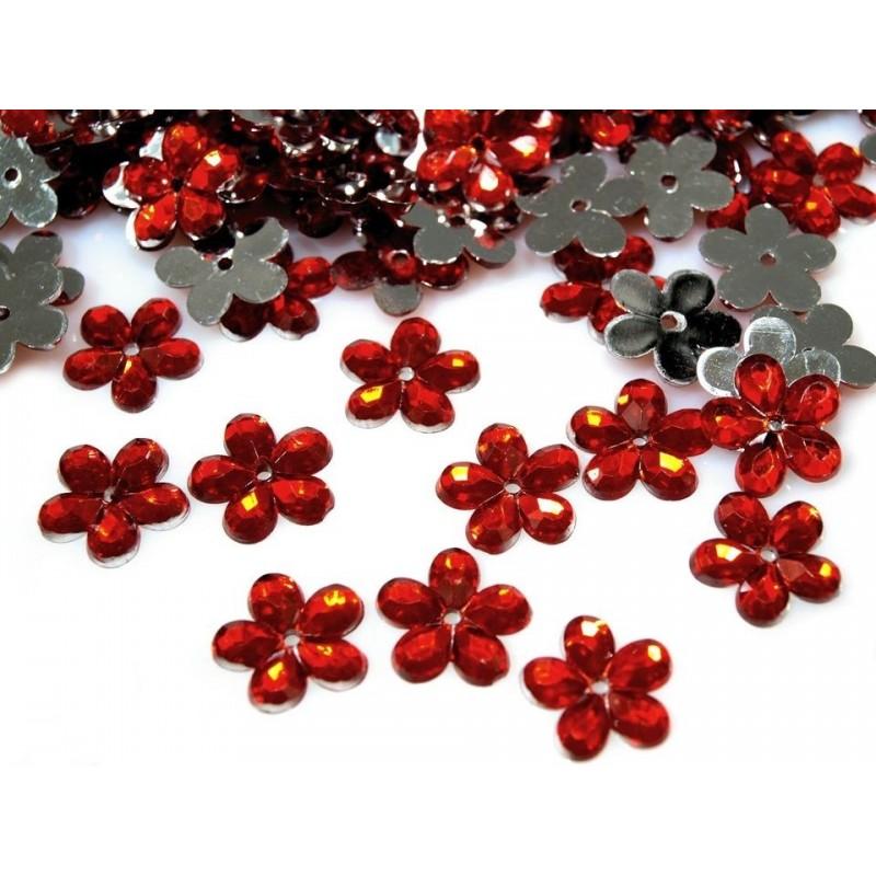 Plastové květiny 10g červená