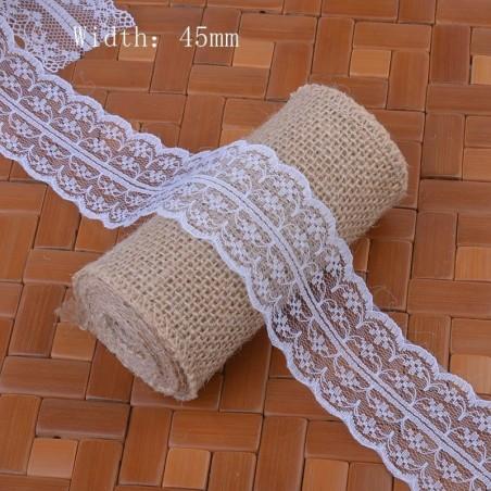 Krajka bílá šíře 45 mm, délka 5 metrů