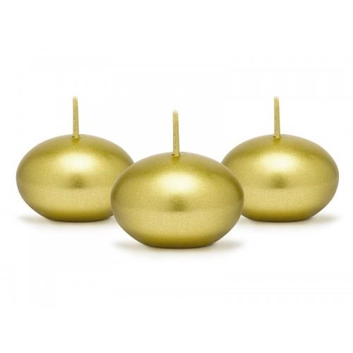 Plovoucí svíčka metalická zlatá