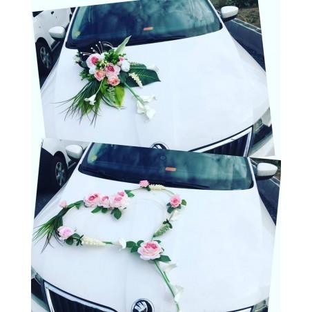 Set dekorací aut velký - růžová