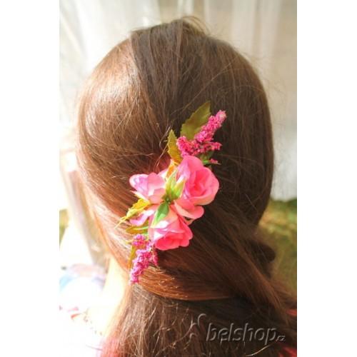 Hřebínek do vlasů - růžový