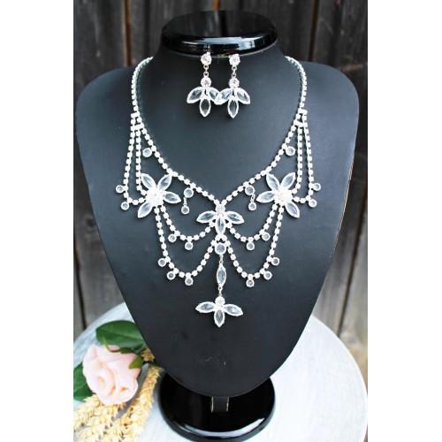 Štrasový náhrdelník velký