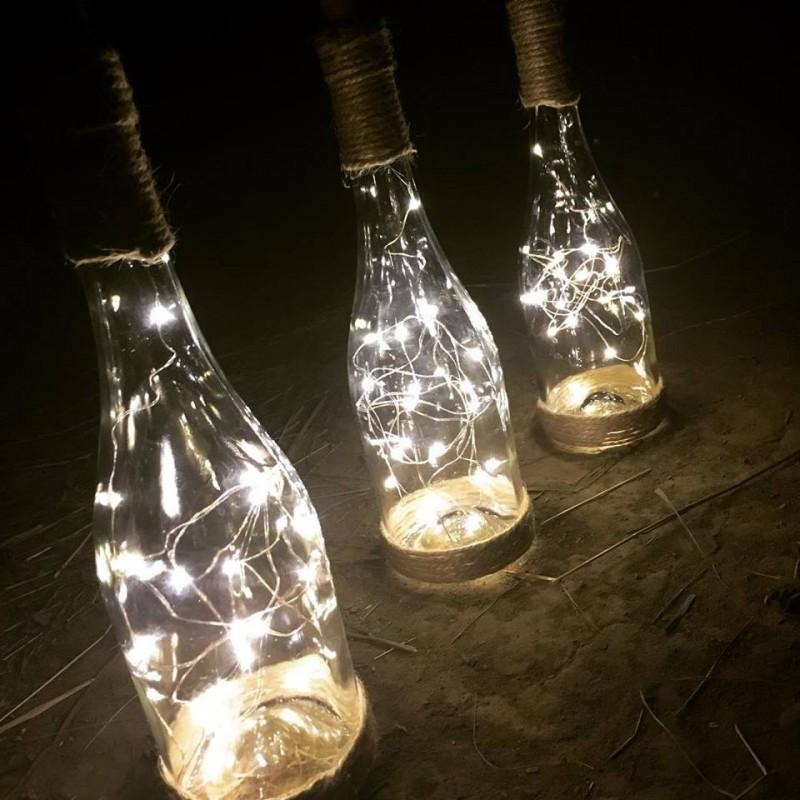Lahev se světýlky
