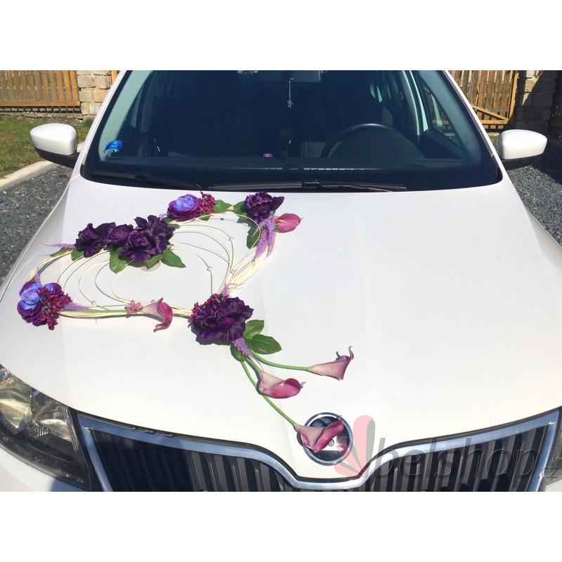 Set na auto tmavě fialová