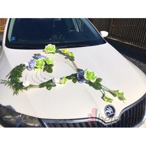 Set na auto zeleno-šedá