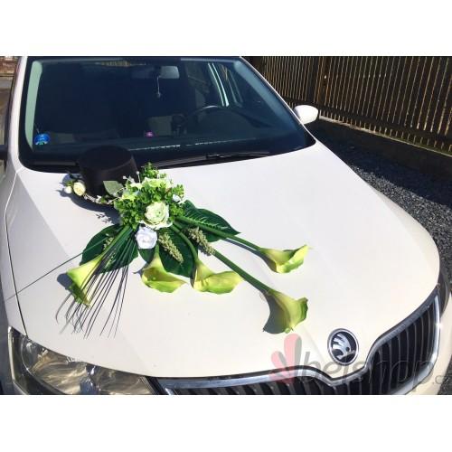 Aranžmá auta velké - zelený