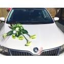 Set dekorací aut velký - zelený
