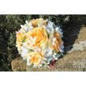 Svatební kytice bílo-oranžová