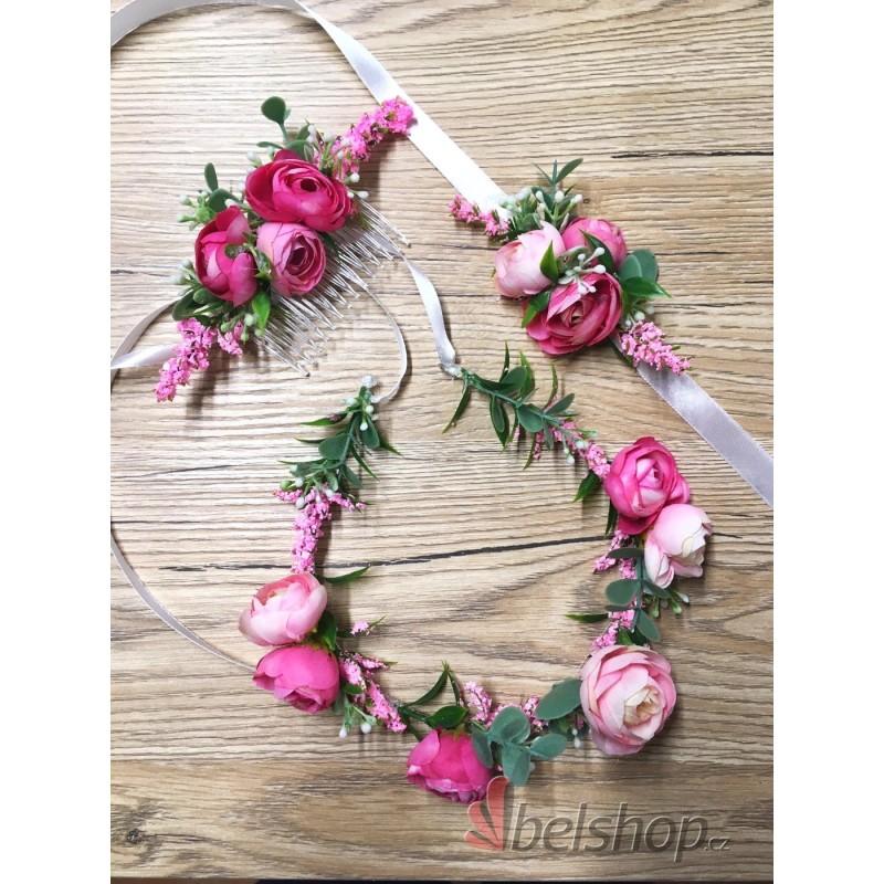 Růžová sada (3 ks)
