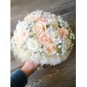 Svatební kytice Champagne vč. korsáže