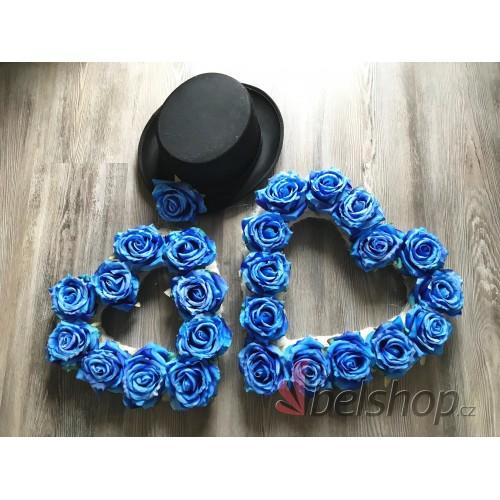 Set dekorací na auto modrý
