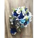 Svatební kytice modro-šedá