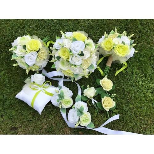 Svatební set v bílo-zelené (9ks)