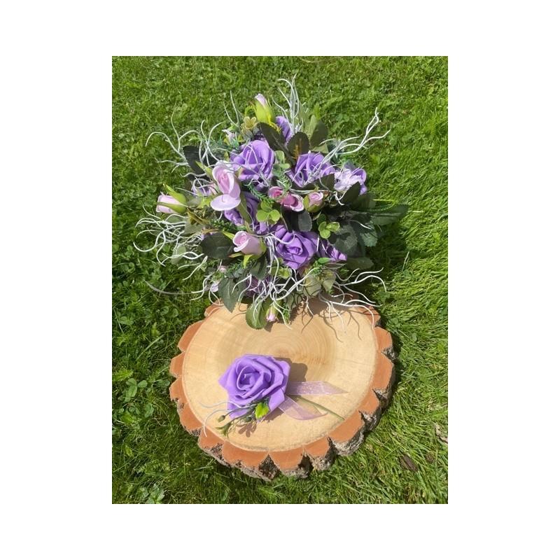 Svatební kytice Fialová