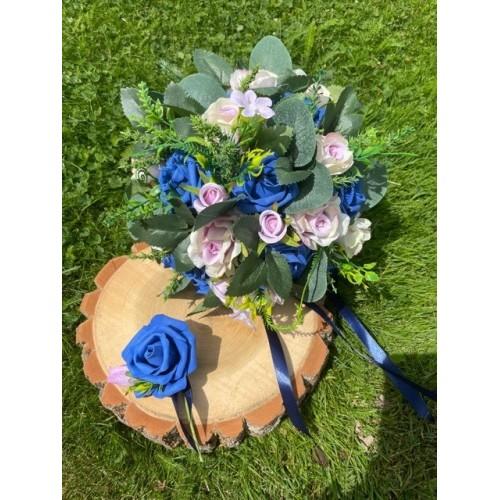 Svatební kytice Tmavě modrá
