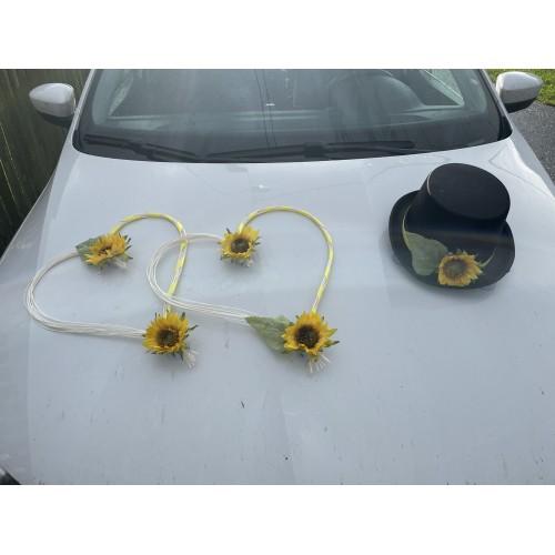 Dekorace na auto Slunečnice