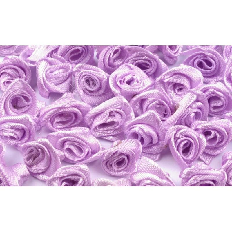 Textilní růžičky 13-15mm, 10ks