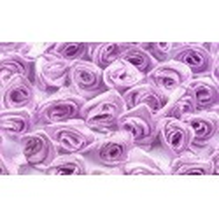 Saténové růžičky 13-15 mm, 10 ks